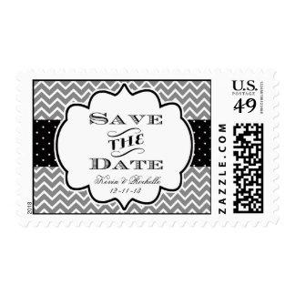 Ahorre los sellos Chevron del sello de la fecha