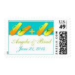 Ahorre los sellos del boda de playa de la fecha
