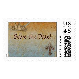 Ahorre los sellos del cuento de hadas de la fecha