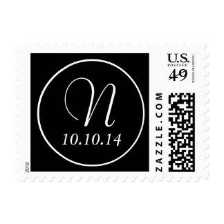 Ahorre los sellos del monograma N de la fecha
