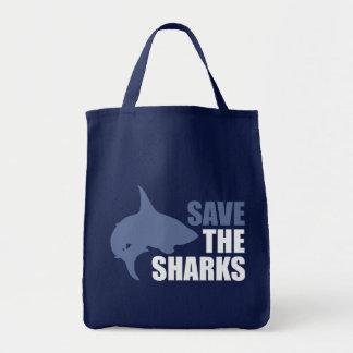 Ahorre los tiburones, ahorre las aletas bolsa