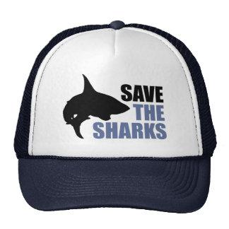 Ahorre los tiburones ahorre las aletas gorro