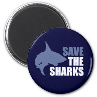 Ahorre los tiburones, ahorre las aletas imán redondo 5 cm