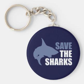 Ahorre los tiburones, ahorre las aletas llavero redondo tipo pin