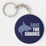 Ahorre los tiburones, ahorre las aletas llaveros
