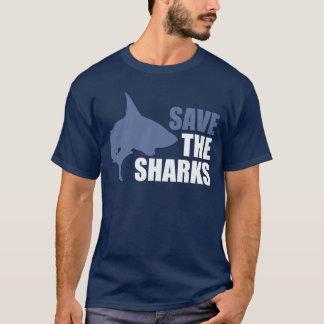 Ahorre los tiburones, ahorre las aletas playera