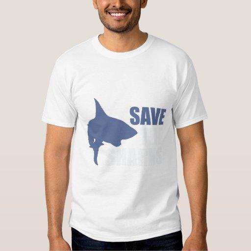 Ahorre los tiburones, ahorre las aletas remera