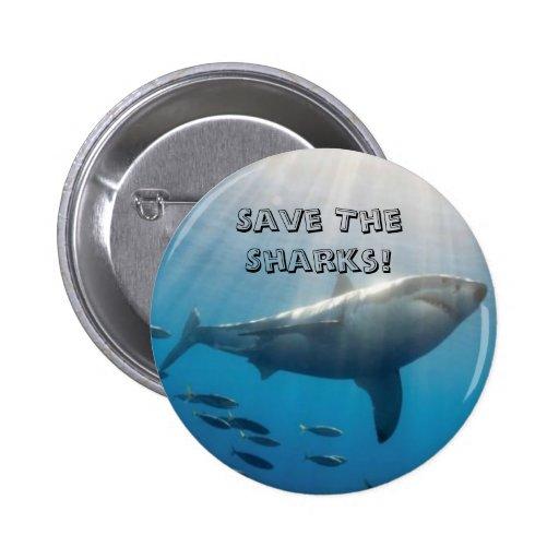 ¡Ahorre los tiburones! Pin
