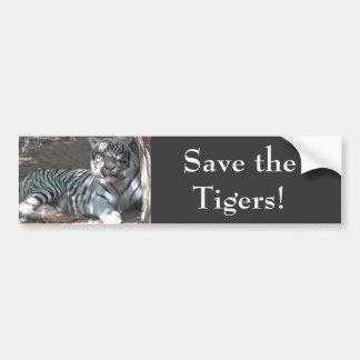 Ahorre los tigres pegatina de parachoque