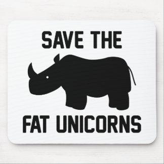 Ahorre los unicornios gordos alfombrillas de raton