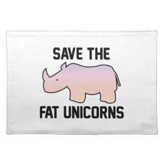 Ahorre los unicornios gordos mantel