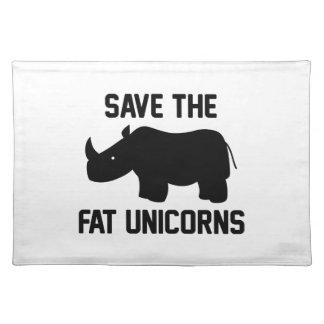 Ahorre los unicornios gordos mantel individual