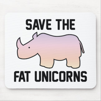 Ahorre los unicornios gordos mouse pad