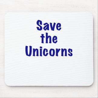 Ahorre los unicornios mouse pads