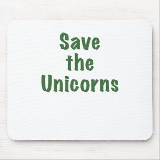 Ahorre los unicornios tapete de ratón