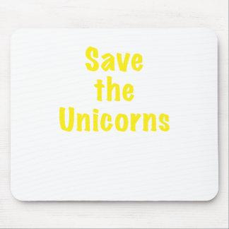 Ahorre los unicornios tapetes de raton
