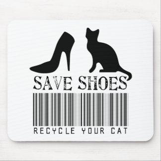 Ahorre los zapatos reciclan su gato tapetes de ratón