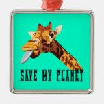 Ahorre mi jirafa del planeta adorno de reyes