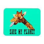 Ahorre mi jirafa del planeta imán flexible