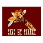 Ahorre mi jirafa del planeta postal