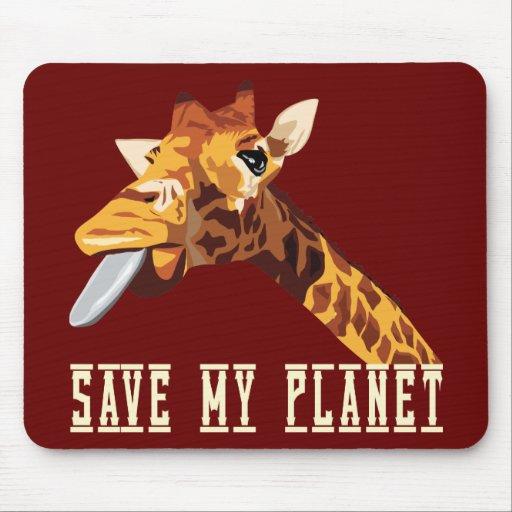 Ahorre mi jirafa del planeta tapete de ratón