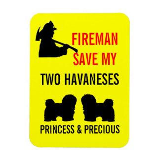 Ahorre mi seguridad contra incendios de dos imán