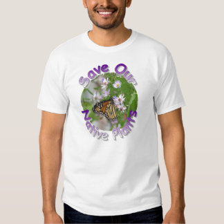 Ahorre nuestra camiseta del monarca de las plantas poleras