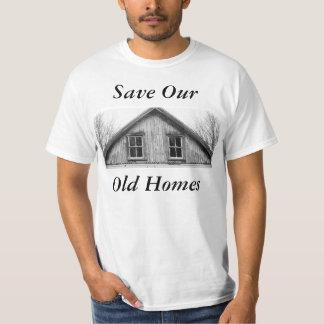 Ahorre nuestra camiseta vieja de los hogares playeras