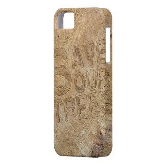 Ahorre nuestra cubierta del iPhone de los árboles Funda Para iPhone SE/5/5s