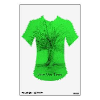Ahorre nuestra etiqueta de Wal de los árboles Vinilo Adhesivo