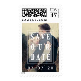 Ahorre nuestra fecha cubrió la reserva del | el sello postal