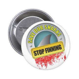 Ahorre nuestra parada Finning de los tiburones Pin