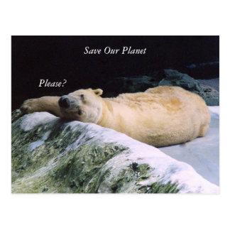 Ahorre nuestra postal del oso polar de la serie de