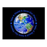 Ahorre nuestra postal del planeta