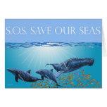Ahorre nuestra tarjeta de los mares