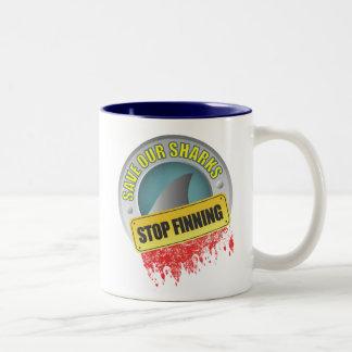 Ahorre nuestra taza de Finning de la parada de los