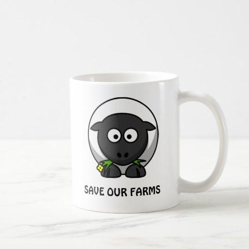 Ahorre nuestra taza de las ovejas de las granjas