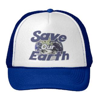 Ahorre nuestra tierra reciclan el Día de la Tierra Gorro De Camionero