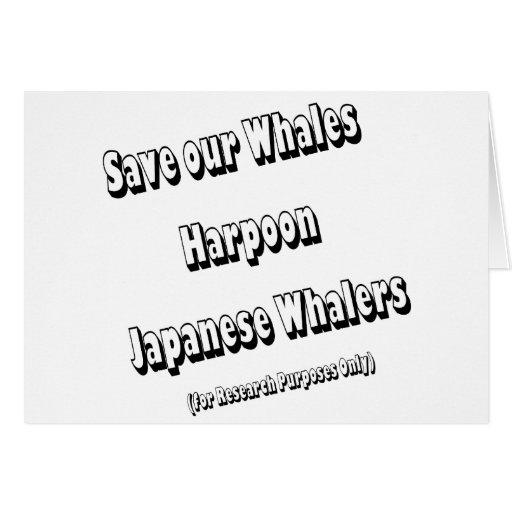 Ahorre nuestras ballenas tarjeta