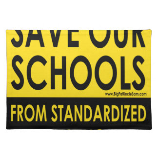 Ahorre nuestras escuelas mantel