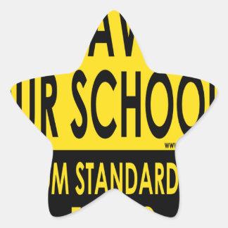Ahorre nuestras escuelas pegatina en forma de estrella