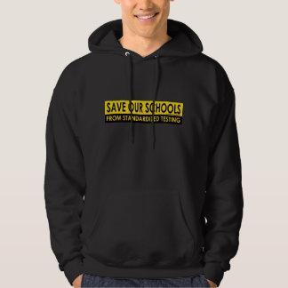 Ahorre nuestras escuelas sudadera con capucha