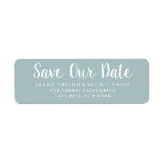 Ahorre nuestras etiquetas de fecha etiqueta de remitente