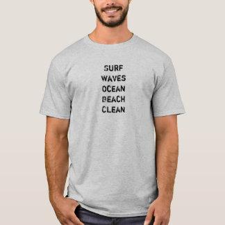 Ahorre nuestro ambiente limpio del océano playera