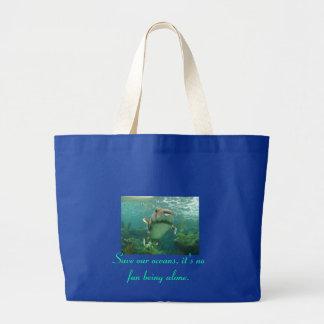 Ahorre nuestro bolso del jumbo de los océanos bolsa de tela grande