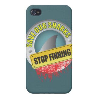 Ahorre nuestro caso del iphone de Finning de la pa iPhone 4/4S Funda