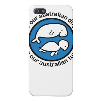 Ahorre nuestro dugong y tortuga iPhone 5 protectores