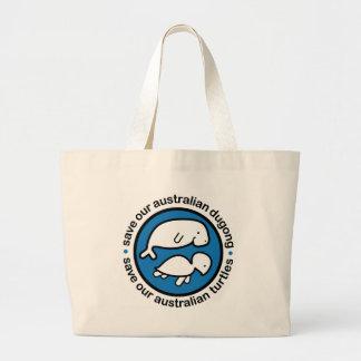 Ahorre nuestro dugong y tortugas bolsas