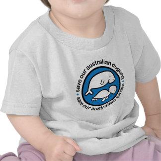 Ahorre nuestro dugong y tortugas camiseta