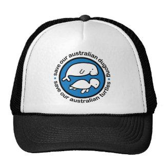 Ahorre nuestro dugong y tortugas gorros bordados